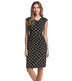 Connected® Dot Patterned Sheath Dress