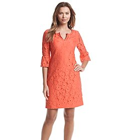 Jessica Howard® Split Neck Lace Dress