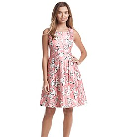 Jessica Howard® Floral Shantung Party Dress