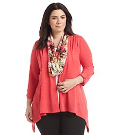 Notations® Plus Size Cozy Layered Look Top