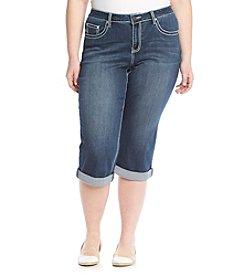 Earl Jean® Plus Size Fleur De Lis Capri