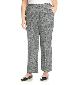 Alfred Dunner® Plus Size Port Antonio Printed Texture Short Pants