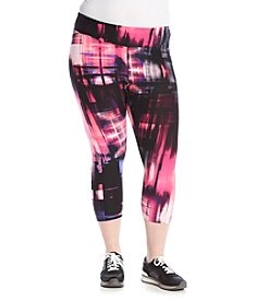 Calvin Klein Performance Plus Size Techno Print Cropped Fitness Tights