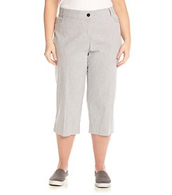 Studio Works® Plus Size Stripe No Gap Crop Pants