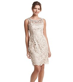 Adrianna Papell® Jeweled Lace Sheath Dress