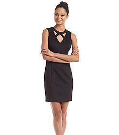 GUESS Cageneck Sheath Scuba Dress