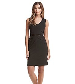 Ivanka Trump® Belted Sheath Ponte Dress