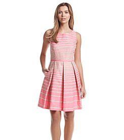 Taylor Dresses Striped Fit And Flare Sundress
