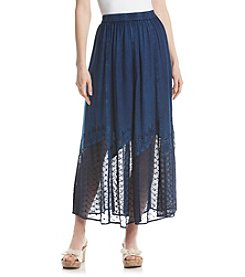 Studio West Long Enzyme Lace Hem Skirt
