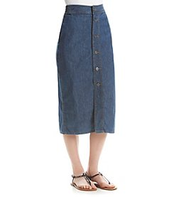 Studio West Long Button Front Skirt