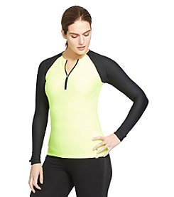 Lauren Active® Plus Size Honeycomb Half-Zip Pullover