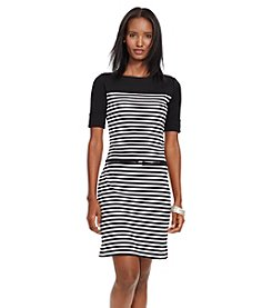 Lauren Ralph Lauren® Petites' Striped Cotton Dress