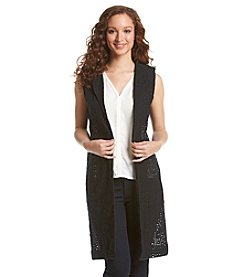 Nine West® Open Front Long Vest