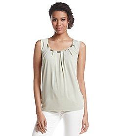 Nine West® Sleeveless Top With Chain Collar