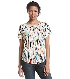 Nine West® Short Sleeve Circle Top