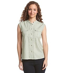 Nine West® Sleeveless Grace Utility Shirt