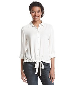 Nine West® Long Sleeve Button Up Top