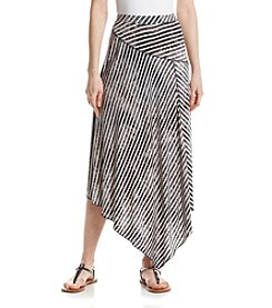 Oneworld® High-Low Striped Metro Skirt