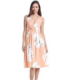 Calvin Klein Sleeveless Floral Scuba Dress