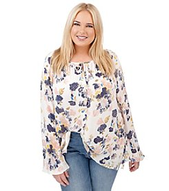 Lucky Brand® Plus Size Soft Floral Top