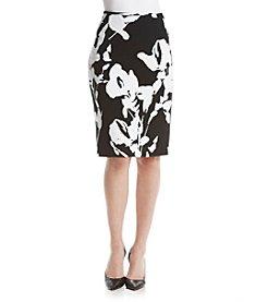 Calvin Klein Floral Textured Knit Skirt
