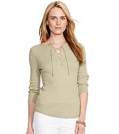 Lauren Jeans Co.® Lace-Up Cotton Tee