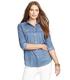 Lauren Jeans Co.® Striped Button-Down Shirt
