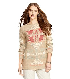 Lauren Ralph Lauren® Geometric Linen-Cotton Sweater