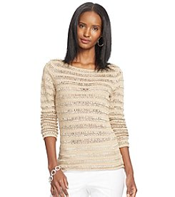 Lauren Ralph Lauren® Open-Knit Linen-Cotton Sweater