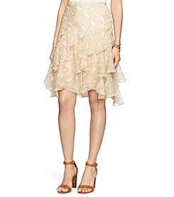 Lauren Ralph Lauren® Python-Print Ruffled Skirt