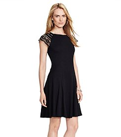 Lauren Ralph Lauren® Lace-Trim Ribbed Dress