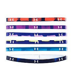 Under Armour® Girls' 6-Pack Paint Grid Graphic Headbands