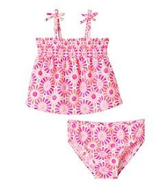 OshKosh B'Gosh® Girls' 2T-6X Tonal Floral Printed Tankini