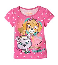 Nickelodeon® Girls' 2T-6X Puppy Paw Patrol Heart Tee