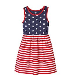Miss Attitude Girls' 2T-6X Stars And Stripes Tank Dress