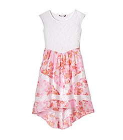 Speechless® Girls' 7-16 Floral Printed High-Low Dress