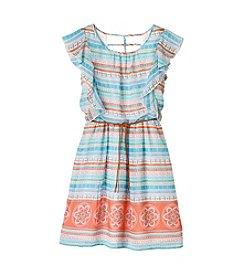 Speechless® Girls' 7-16 Multi Printed Chiffon Dress