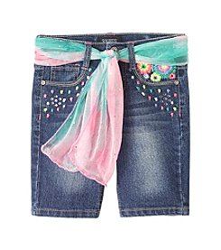 Squeeze® Girls' 2T-6X Floral Embroidered Bermuda Shorts