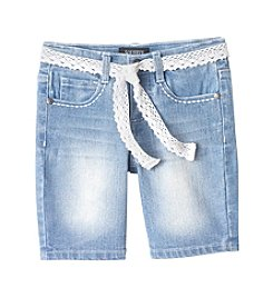 Squeeze® Girls' 2T-6X Butterfly Pocket Bermuda Shorts