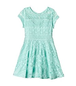 Sequin Hearts® Girls' 7-16 Lace Fit And Flare Dress