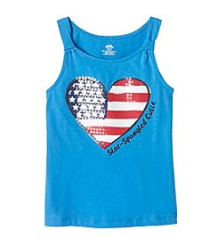 Mix & Match Girls' 2T-6X American Heart Tank