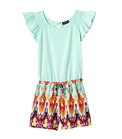 Squeeze® Girls' 7-16 Printed Bottom Romper