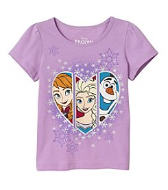 Disney® Girls' 2T-6X Frozen Heart Tee