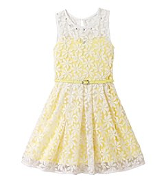 Beautees Girls' 4-16 Lace Skater Dress