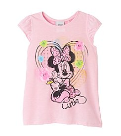 Disney® Girls' 2T-6X Short Sleeve Minnie Mouse® Printed Tee