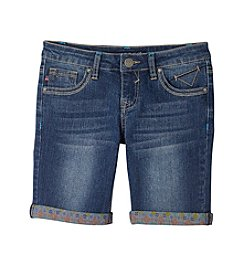 Vigoss® Girls' 7-16 Geo Printed Cuff Bermuda Shorts