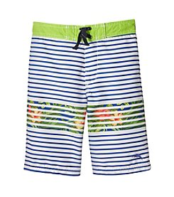 Tommy Bahama® Boys' 8-20 Striped Floral Printed Swim Trunks