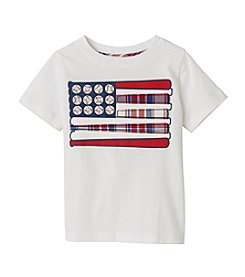 Mix & Match Boys' 2T-7 Short Sleeve Baseball Flag Printed Tee