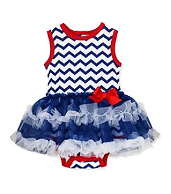 Baby Essentials® Baby Girls' Chevron Printed Bodysuit And Tutu Set