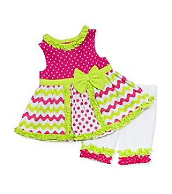 Baby Essentials® Baby Girls' 2-Piece Printed Dress And Leggings Set